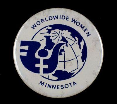 Button. 'Worldwide Women Minnesota'