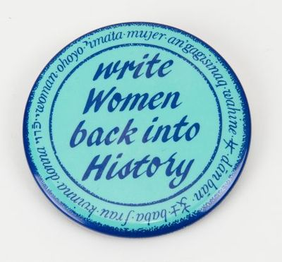 Button. 'Write women back into history'