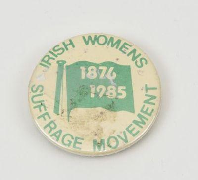 Button. 'Irish women suffrage movement'