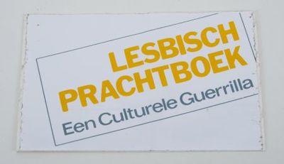Sticker. 'Lesbisch prachtboek'