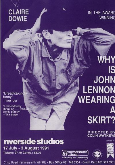 Why is John Lennon wearing a skirt?