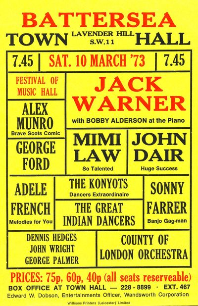 Festival of Music Hall, 10 March 1973