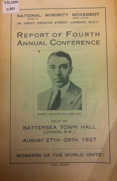 Report of Fourth Annual Conference held at Battersea Town Hall, London, S.W.1, August 27th-28th, 1927.