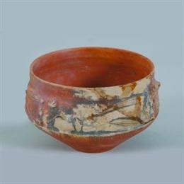 Zdjelica s barbotinskim ukrasom