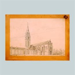 Aksonometrijski prikaz obnovljene franjevačke crkve u Iloku