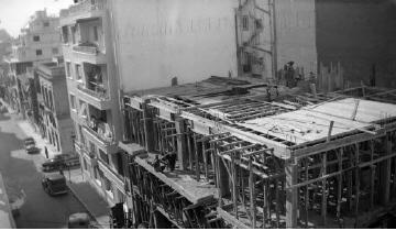 Οικοδομικές εργασίες. Αθήνα, γύρω στα 1935 Έλλη Παπαδημητρίου (ΦΑ_19_594)