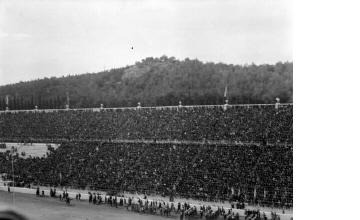 Κόσμος στις κερκίδες του Παναθηναϊκού Σταδίου. Αθήνα, γύρω στα 1935 Έλλη Παπαδημητρίου (ΦΑ_19_598)