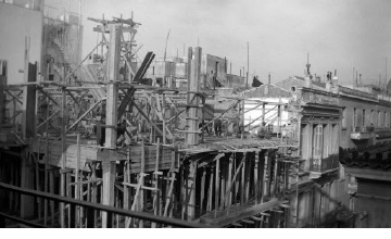 Οικοδομικές εργασίες. Αθήνα, γύρω στα 1935 Έλλη Παπαδημητρίου (ΦΑ_19_613)