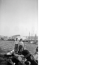 Ψαράδες σε βάρκα. Γύρω στα 1935 Έλλη Παπαδημητρίου (ΦΑ_19_666)