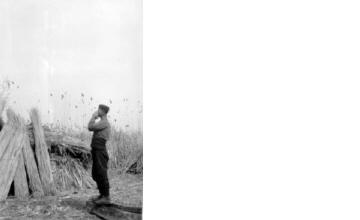Άνδρας σε καλαμώνα. Γιαννιτσά, γύρω στα 1935 Έλλη Παπαδημητρίου (ΦΑ_19_745)