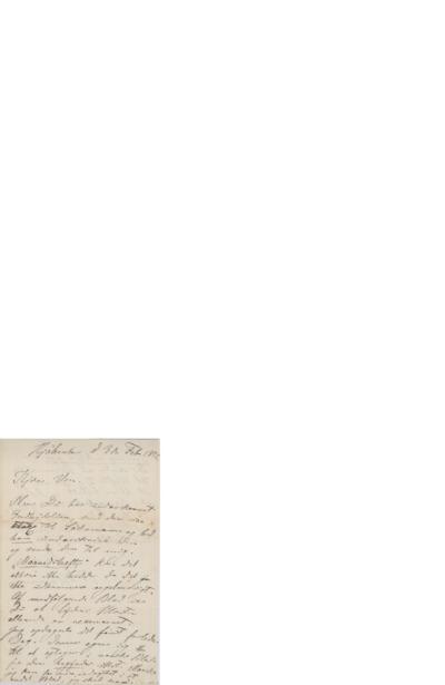 Brev, 1872 02.03, kjøbenhavn, til Edvard Grieg