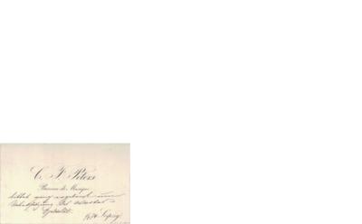 Visittkort, 1874 05.01, Leipzig, til Edvard Grieg