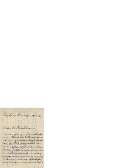 Brev, 1929 09.14, Lofthus, til Henri Hinrichsen