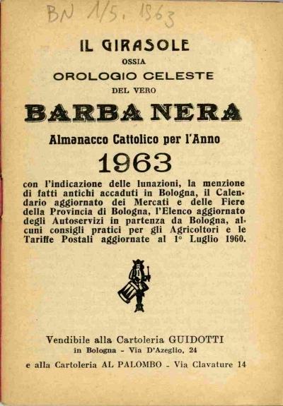 Calendario Fiere Bologna.Omnia Per L Anno 1963 Con L Indicazione Delle Lunazioni