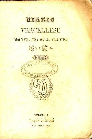 Diario vercellese diocesano, provinciale, statistico per l'anno ...
