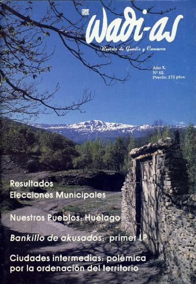 Wadi-as : informativo comarcal: Año X Número 83 - 1991 mayo 1