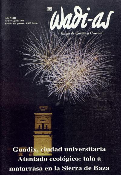 Wadi-as : informativo comarcal: Año XVIII Número 140 - 1999 agosto 1