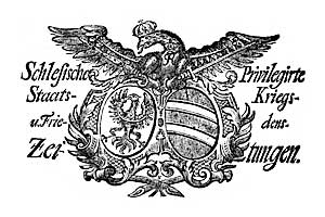 Schlesische Privilegirte Staats- Kriegs- und Friedens-Zeitungen. 1759-07-02 [Jg.18] Nr 75