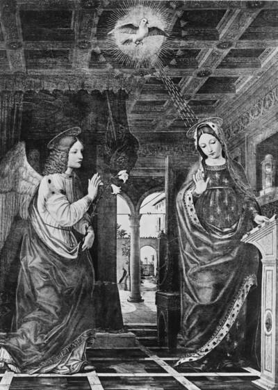 Szenen aus der Kindheit Christi: Verkündigung, Heimsuchung und Darstellung im Tempel