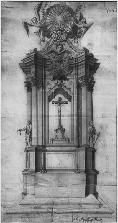 Barockaltar im Dom zu Riga