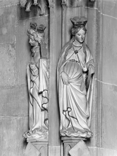 Gewändefigur der Memorienseite: Heiliger Katherina