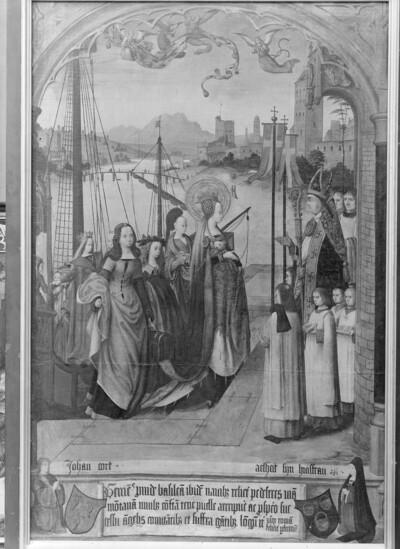 Ankunft der heiligen Ursula und ihrer Gefährtinnen in Basel