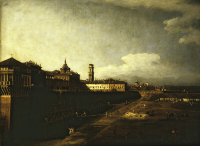 Blick auf Turin vom Garten des Palazzo Reale