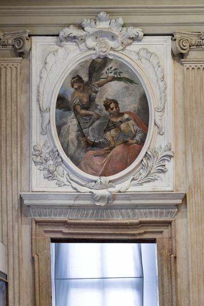 Supraporten mit Allegorien — Virtù und Giustizia