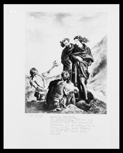 Hamlet und Horatio auf dem Friedhof