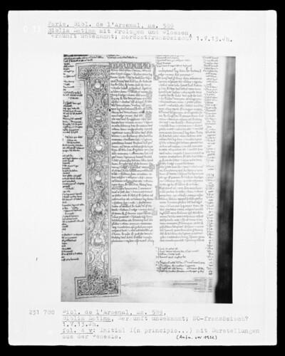 Biblia Latina: Fol. 4 v.: Initiale I