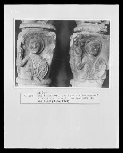 Kapitell mit allegorischen Figuren