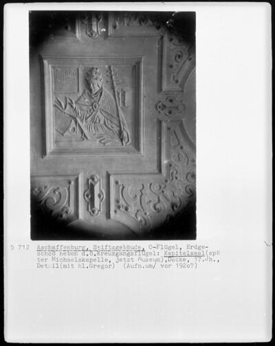 Decke (Bauteil), Aschaffenburg, Sankt Peter und Alexander, Ostflügel, Kapitelsaal