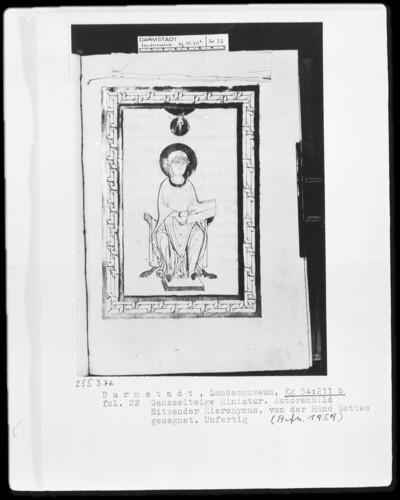 Evangeliar aus Sankt Vitus zu Gladbach, Codex 508 — Der heilige Hieronymus, Folio 22 recto