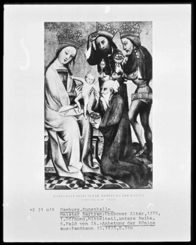 Grabower Altar — Die Anbetung des Christuskindes durch die Heiligen Drei Könige