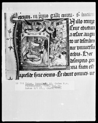 Perikopenbuch des Erzbischofs Kuno von Falkenstein: Die Geburt Christi