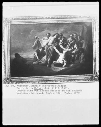 Joseph wird von seinen Brüdern in den Brunnen gestoßen