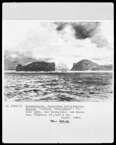 Der Vatnajökul vom Meere aus
