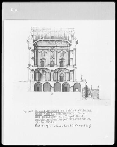 Kassel & Schloß Wilhelmshöhe & Eckflügel