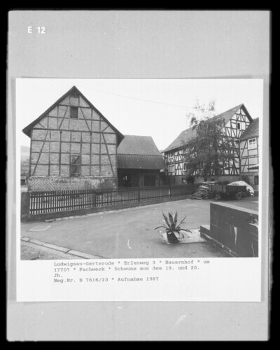 Bauernhof, Ludwigsau (Kreis Hersfeld-Rotenburg) - Gerterode (Ludwigsau <Kreis Hersfeld-Rotenburg>), Erlenweg 3