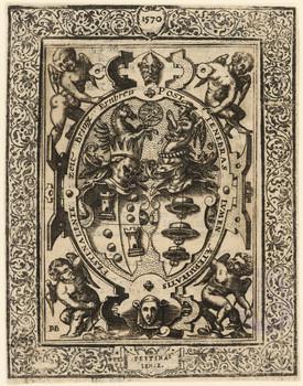 Wappen von Leonhardt Thurneysser zum Thurn (1531 - 1596). und seiner Frau Anna Huettlin