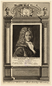 Porträt Christoph Weigel (1654 - 1725).