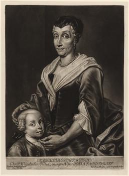 Doppelporträt Magdalena Esther Weigel (1679 - 1748) und Johann David Tyroff (1733 - 1770).