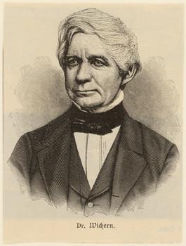 Porträt Johann Hinrich Wichern (1808 - 1881).