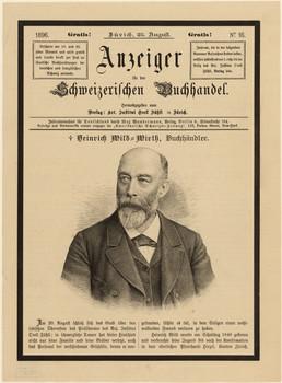 Porträt Heinrich Wild (1840 - 1896).