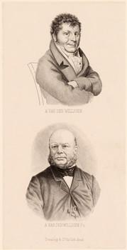 2 Porträts: Adrien van der Willigen (1766 - 1841) und Adriaan van der Willigen (1810 - 1876).