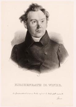 Porträt Georg Benedict Winer (1789 - 1858).
