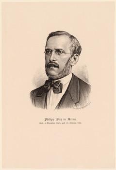 Porträt Philipp Wirz (1825 - 1891).