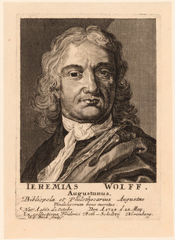 Porträt Jeremias Wolf (1663 - 1724).