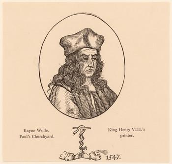 Porträt Reyner Wolfe (- 1573).
