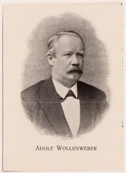 Porträt Adolph Wollenweber (- 1877 -).